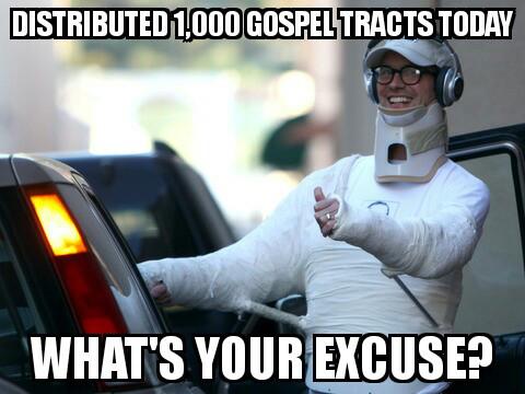 Guilt trip evangelism
